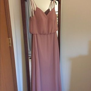 Dusty Rose Azazie bridesmaid dress